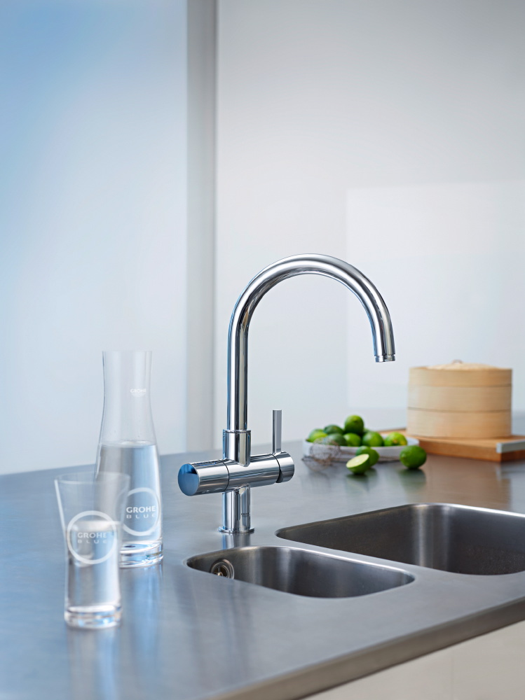 grohe chilled sparkling dual faucet the panday group. Black Bedroom Furniture Sets. Home Design Ideas