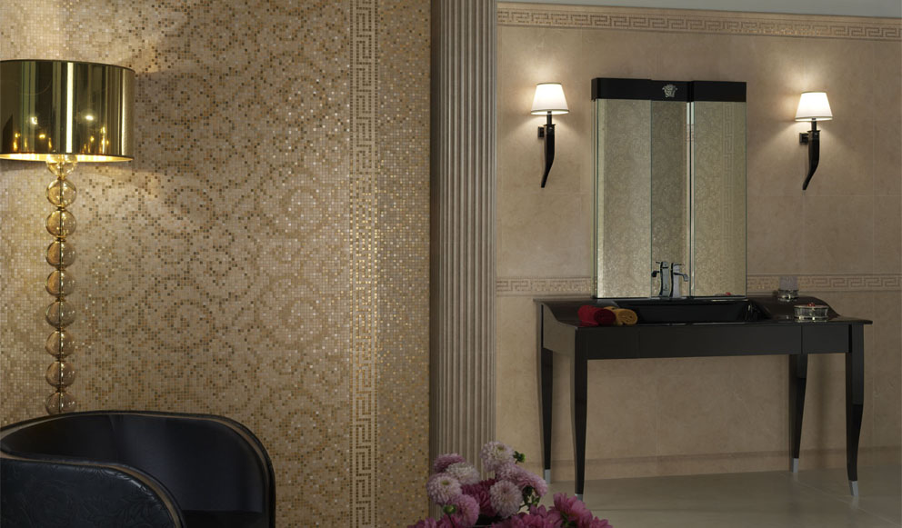Luxury tiles archives panday group interior design - Rivestimenti bagno versace ...