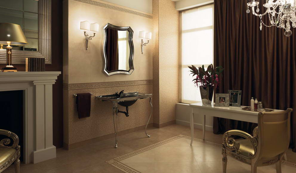 Luxury bathroom inspiration the panday group inspiration for Carrelage versace